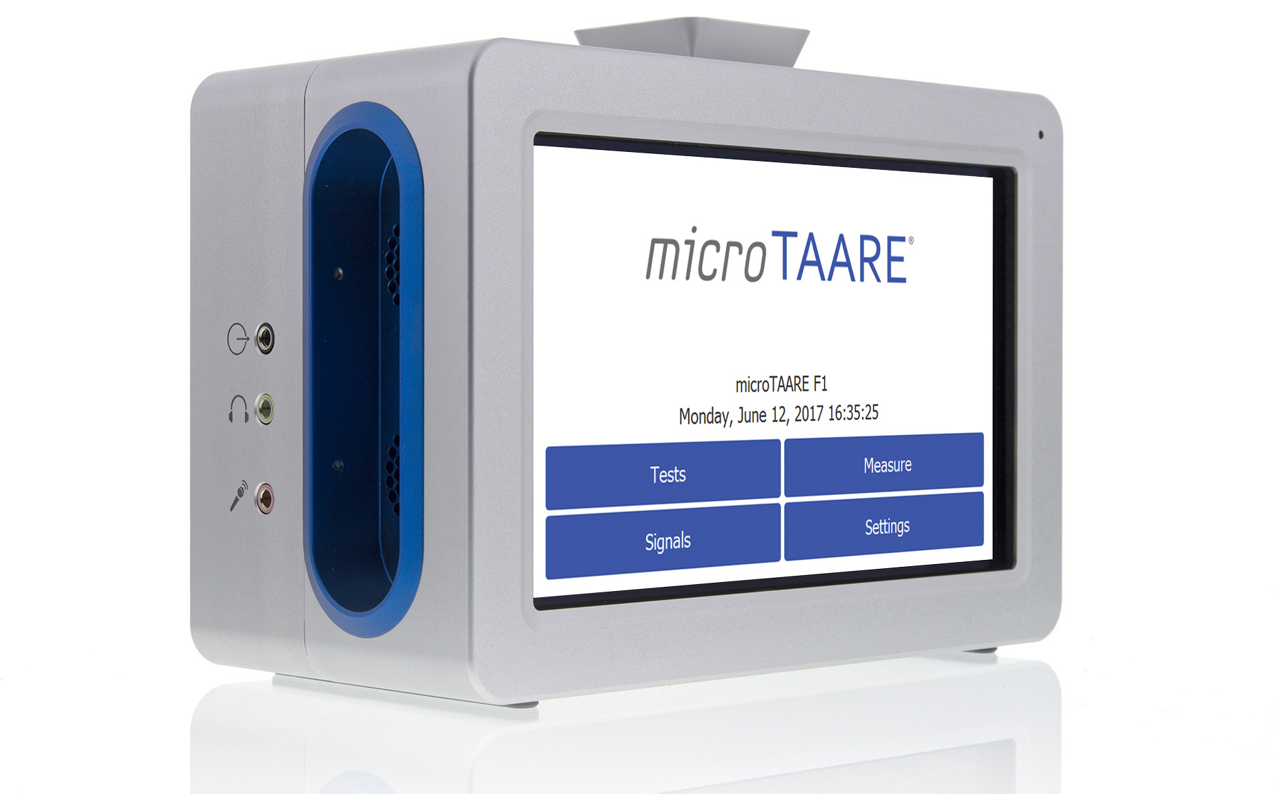 <i>micro</i>TAARE front view with measurement
